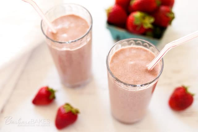 Strawberry Oats Coconut Chia Smoothie recipe from Best 100 Smoothies for Kids