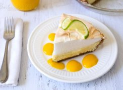 Featured Image for post Key Lime Pie with Mango Sauce