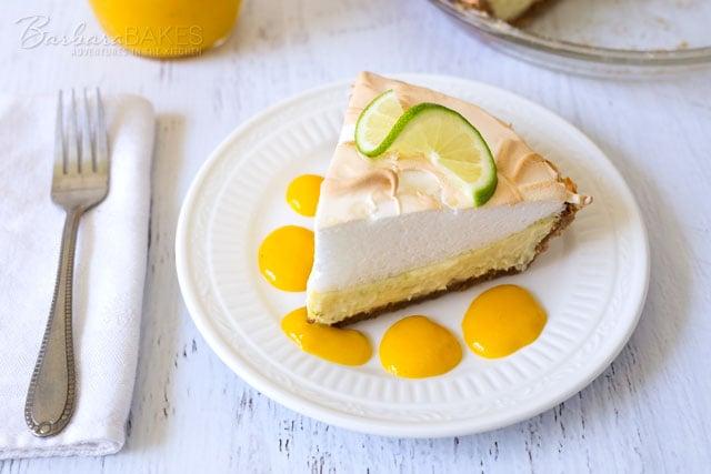 Key Lime Pie with Mango Sauce