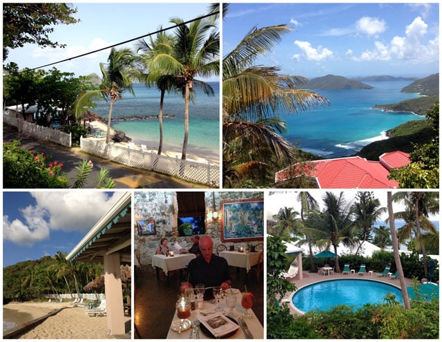 Collage of The Sugar Mill Hotel on the Island of Tortola, BVI