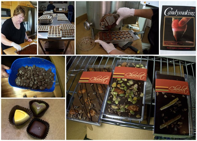 Collage of CandybMaking With Ruth Kendrick of Chocolot
