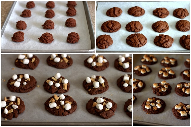 Making Triple Chocolate S'mores Cookies