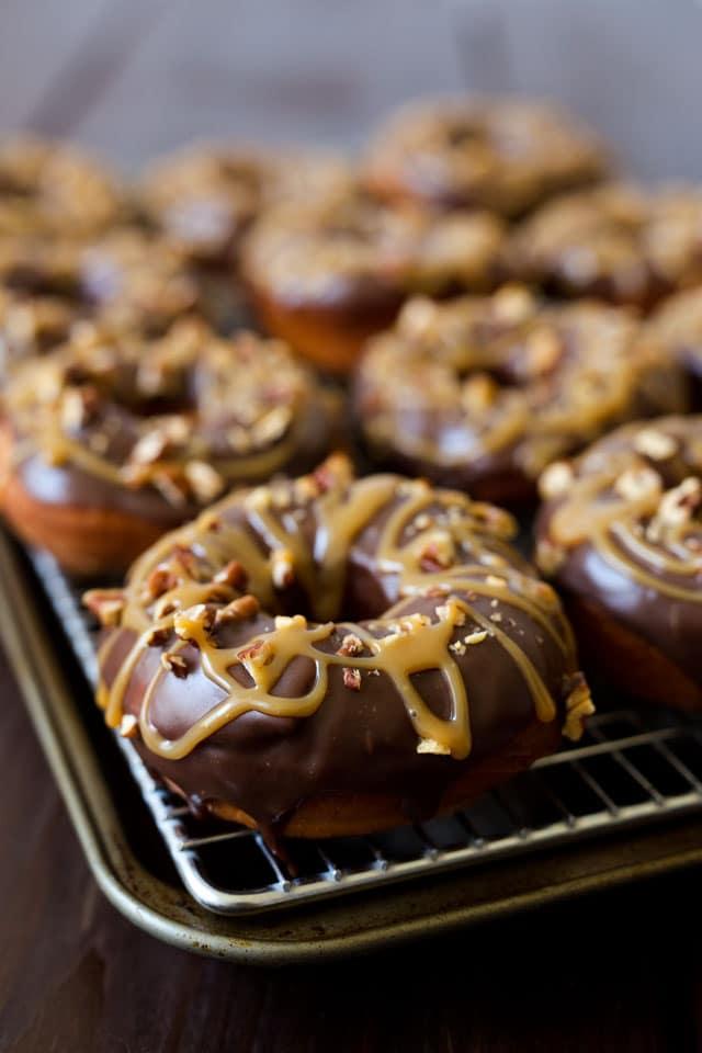 Caramel Pecan Turtle Doughnuts