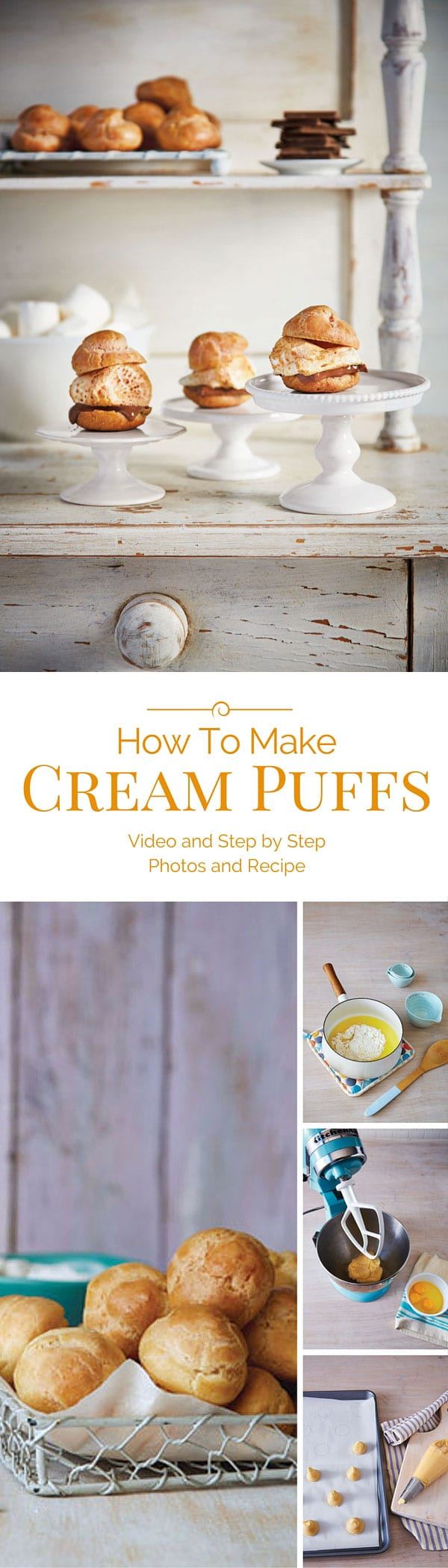 How-To-Make-Cream-Puffs-Pinterest-Collage