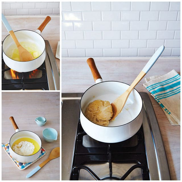 Step by Step Photo Collage of How to Make Cream Puffs