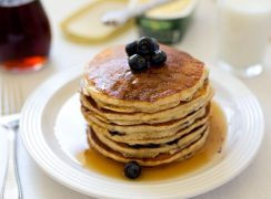 Featured Image for post Whole Wheat Lemon Ricotta Blueberry Pancakes