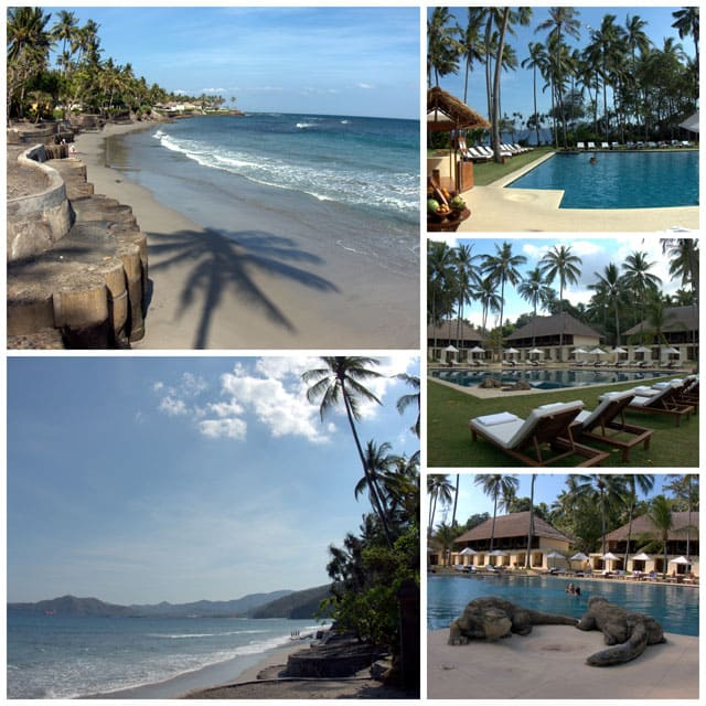 Collage from Alila Manngis hotel beach and pool