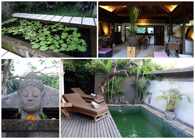 Collage of photos from Jamahal Private Resort & Spa at Jimbaran Bay