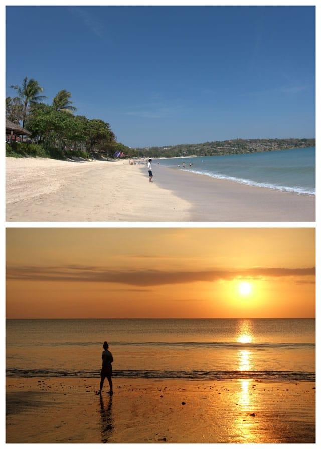 Photo collage from Jimbaran Bay beach