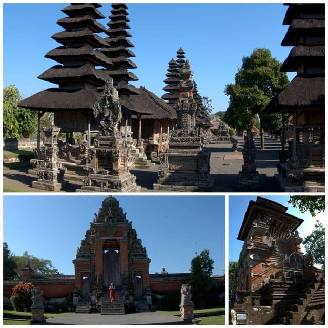 Collage of Taman-Ayun-Temple