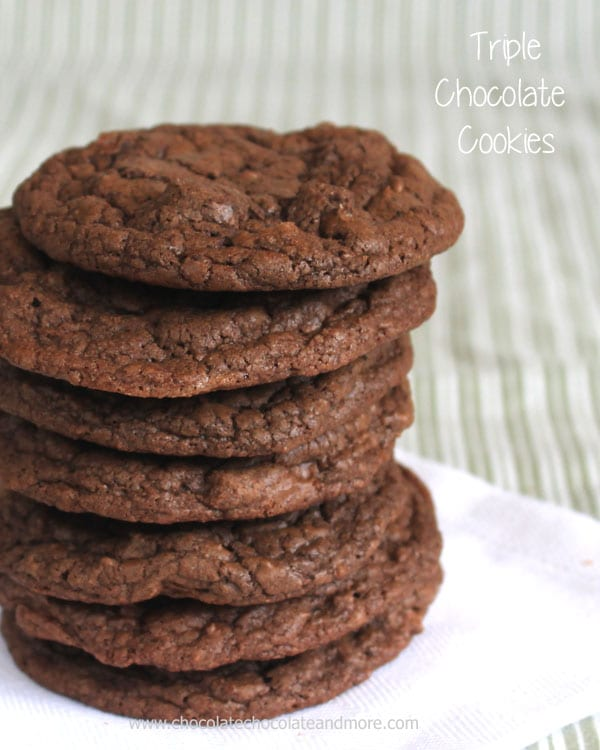 Triple Chocolate Cookies from Chocolate Chocolate and More