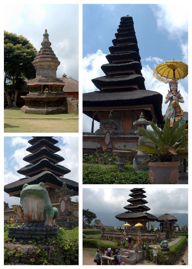 Collage of Ulun-Danu-Beratan-Temple
