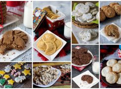 collage of a recipe roundup of the best Christmas cookies on Barbara Bakes.