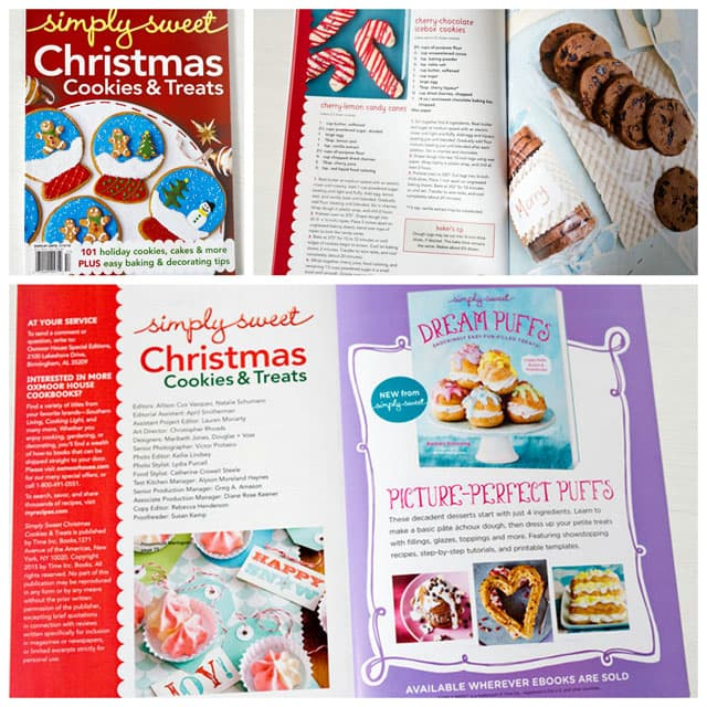 Collage of Christmas cookie magazine, Simply Sweet Christmas Cookies & Treats