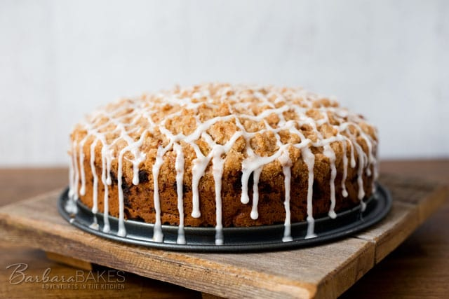 Featured Image for post Cinnamon Zucchini Streusel Coffee Cake