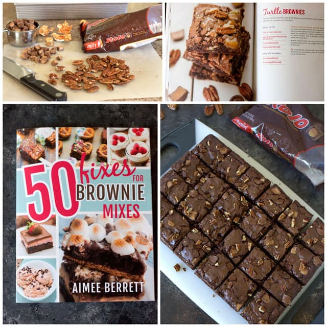 Collage of 50-fixes-for-brownie-mixes-turtle-brownies-barbara-bakes