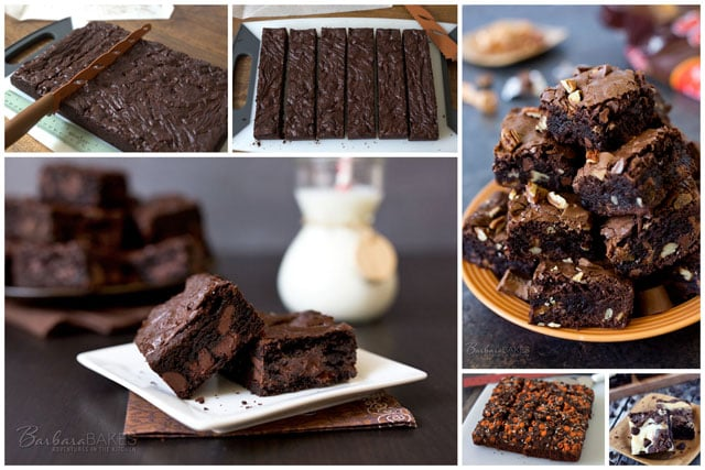 Featured Image Collage for post How To Cut Brownies and a Brownie Roundup