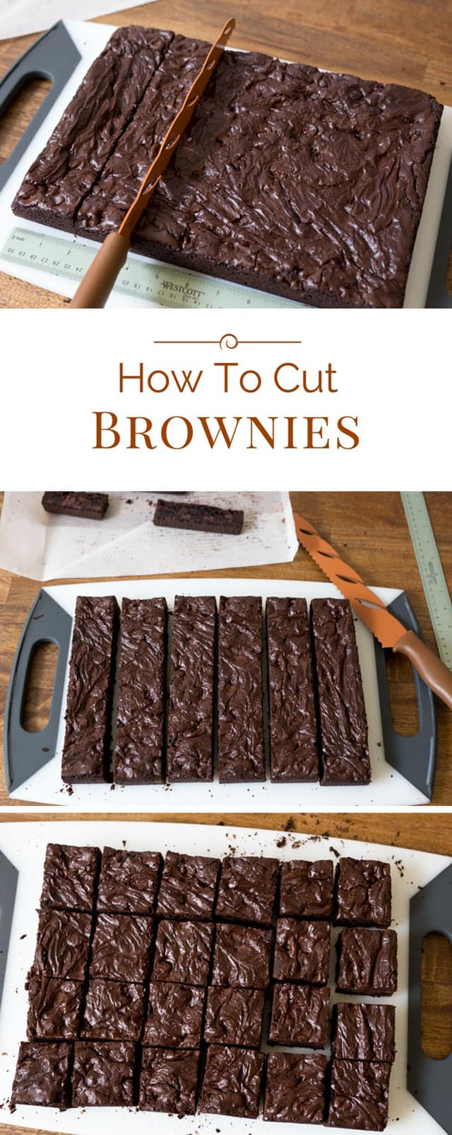 My daughter recently saw me cutting brownies and said I should do a post and share with everyone how I cut brownies. So today I'm sharing my best tips on How To Cut Brownies.