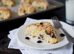 homemade cranberry orange scones