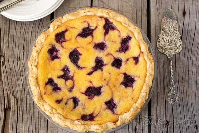 Featured Image for post Lemon Blackberry Chess Pie