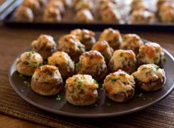 Featured Image for post 6 Cheese Italian Sausage Stuffed Mushrooms