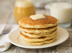 Featured Image for post Melt in Your Mouth Buttermilk Pancakes with Buttermilk Syrup