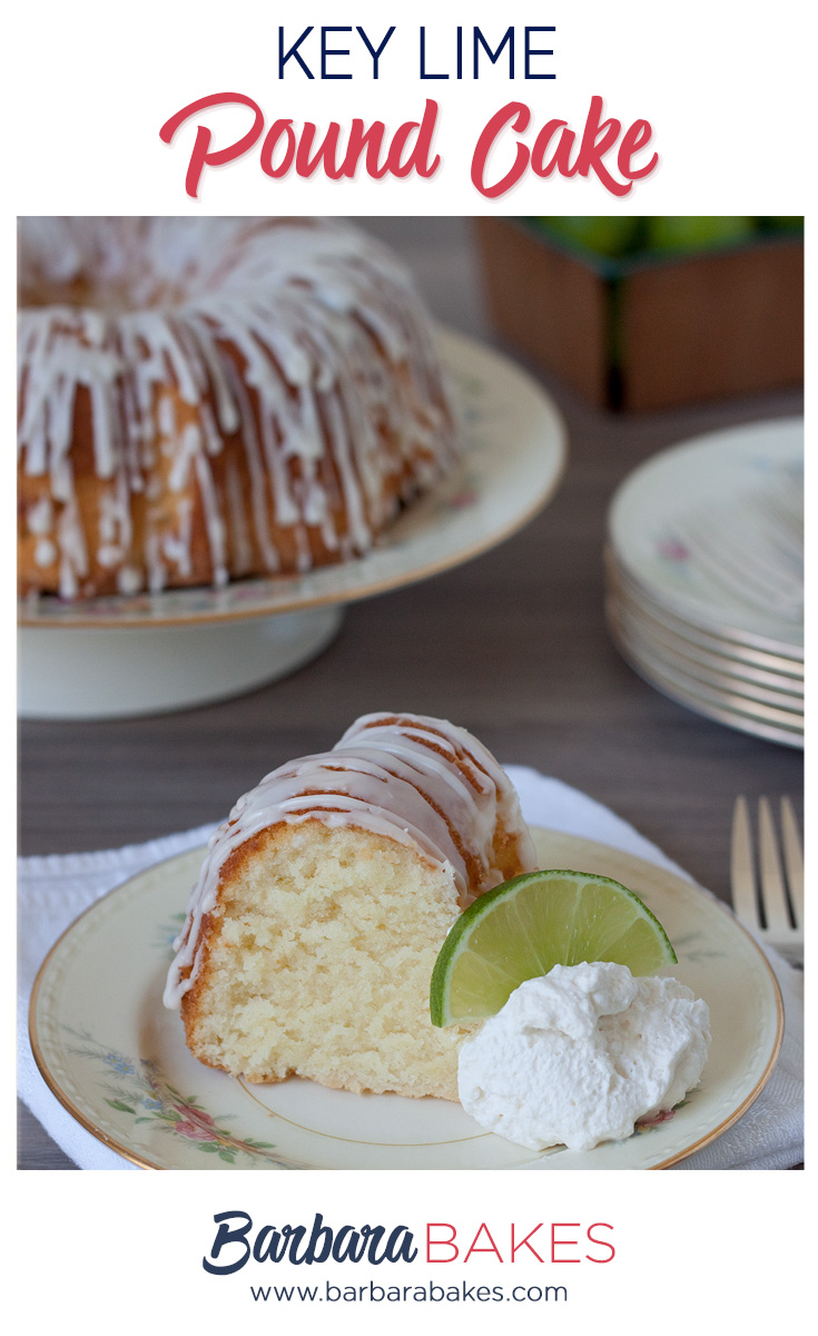 A slice of key lime pound cake