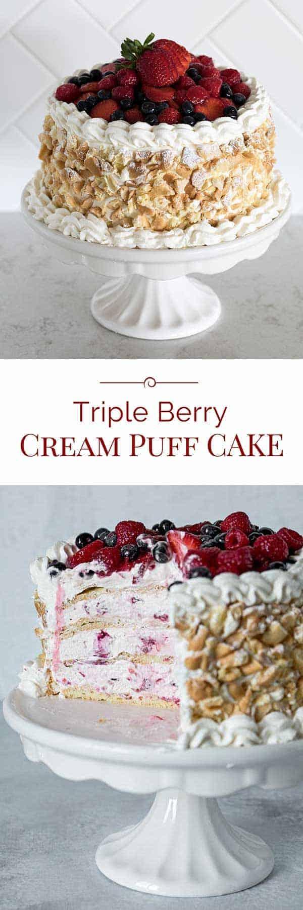 Triple-Berry-Cream-Puff-Cake-Collage
