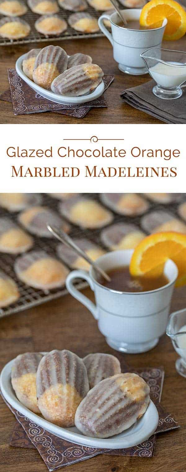 These Glazed Chocolate Orange Marbled Madeleines sound fancy, but they're easy-to-make fun, little cakes that you can eat with your hands.