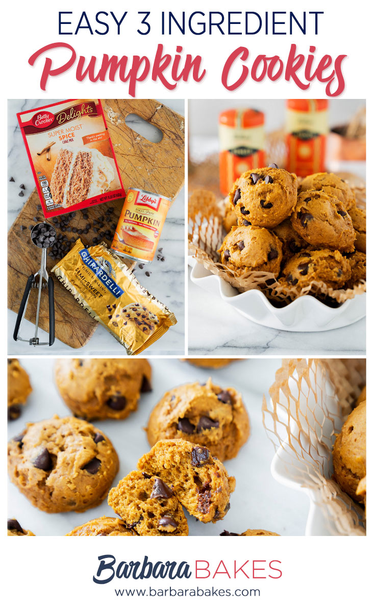 pinterest button of how to make easy pumpkin chocolate chip cookies