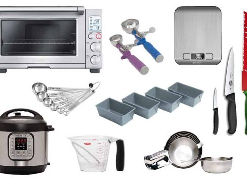 Kitchen Gift Guide Collage - Recommendations for cooking/baking appliances and tools by Barbara Bakes