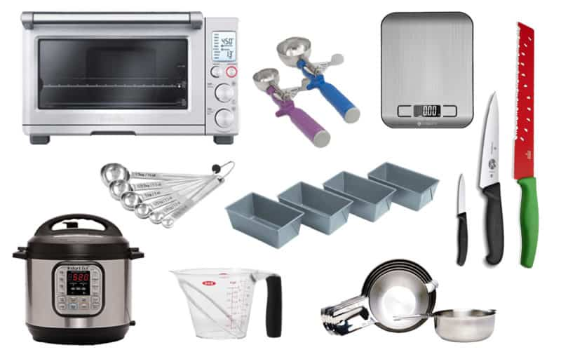 collage of Kitchen Gift Guide - Recommendations for cooking/baking appliances and tools by Barbara Bakes