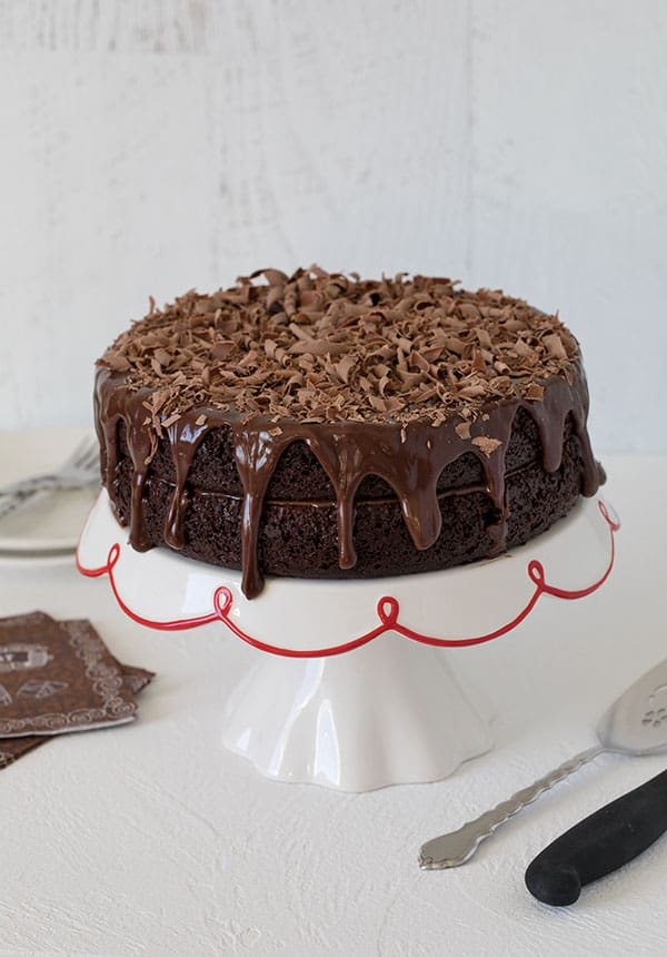 A luscious, decadent Triple Chocolate Layer Cake.