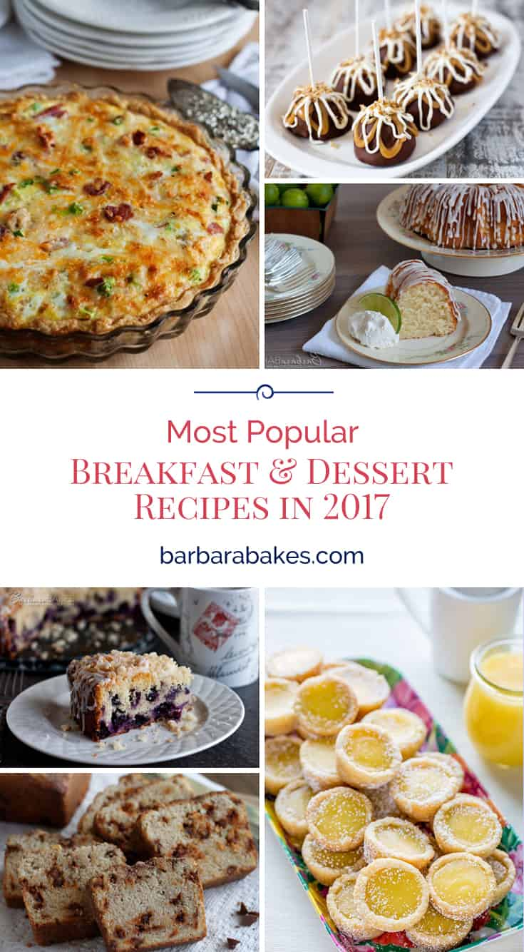 Reader-favorite recipes in 2017 include a mix of quick-and-easy breakfast, dinner, and dessert recipes and crowd-pleasing showstoppers. via @barbarabakes