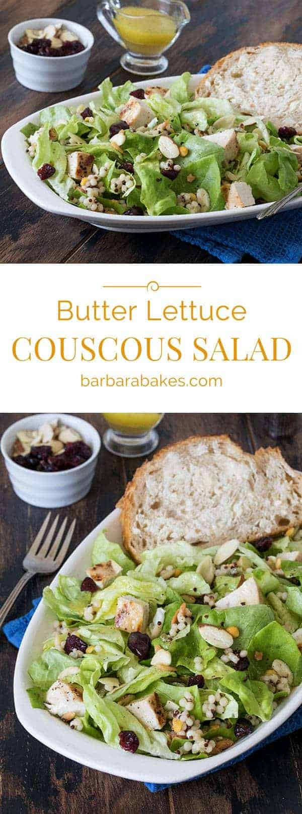 Butter Lettuce Couscous Chicken Salad Collage