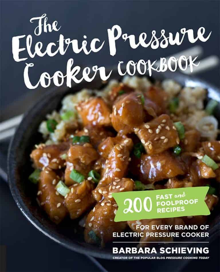 Front cover for the Electric Pressure Cooker Cookbook