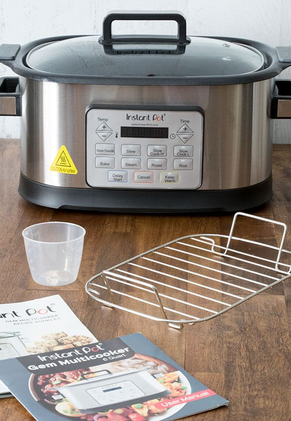Have you heard of the Instant Pot Gem Multicooker? It\'s not a pressure cooker. Read my Instant Pot Gem Multicooker Review to find out what this 8-in-1 Multicooker can do.