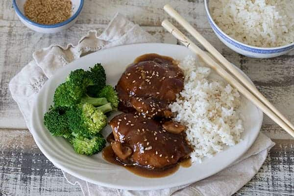 Spicy Honey Garlic Chicken with Foolproof Rice