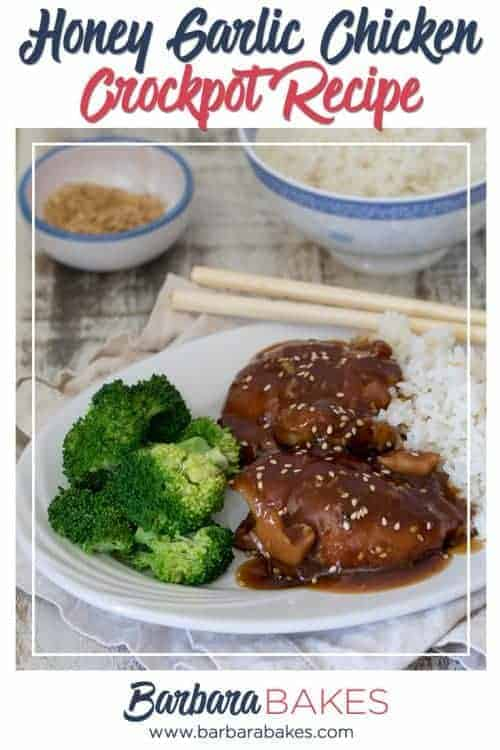 Crockpot Honey Garlic Chicken with Rice