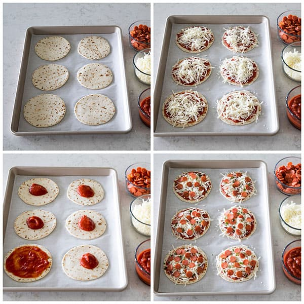 collage of making Featured Image for post Easy Mini Pizza
