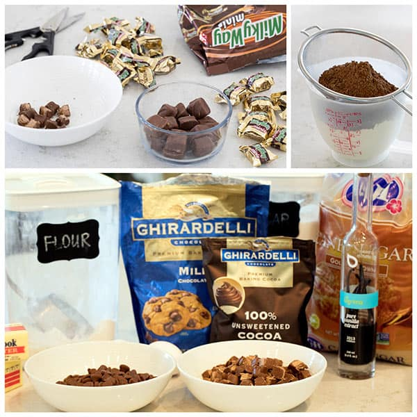 Making Triple Chocolate Milky Way Cookies