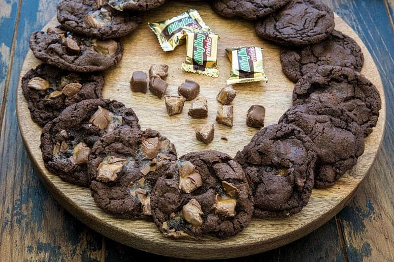 Featured Image for Triple Chocolate Milky Way Cookies