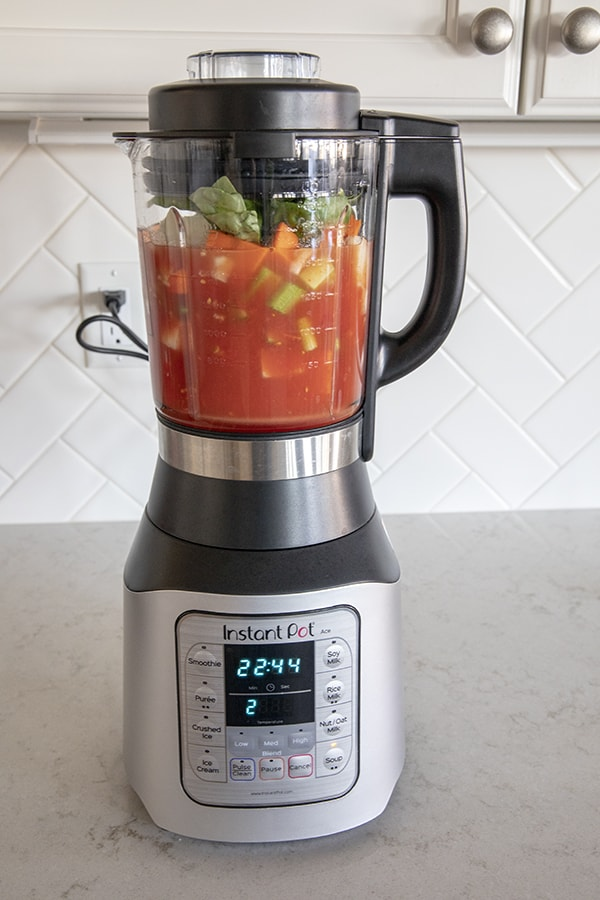 Ace Blender Tomato Basil Soup in an Instant Pot Blender