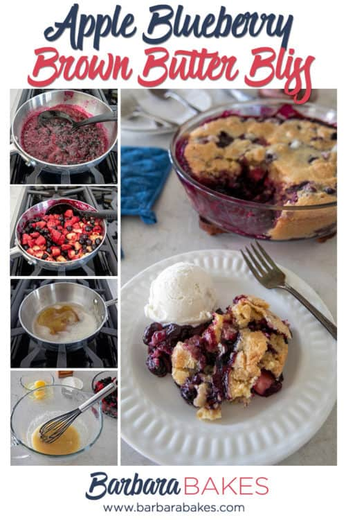 A collage of Apple Blueberry Brown Butter Bliss