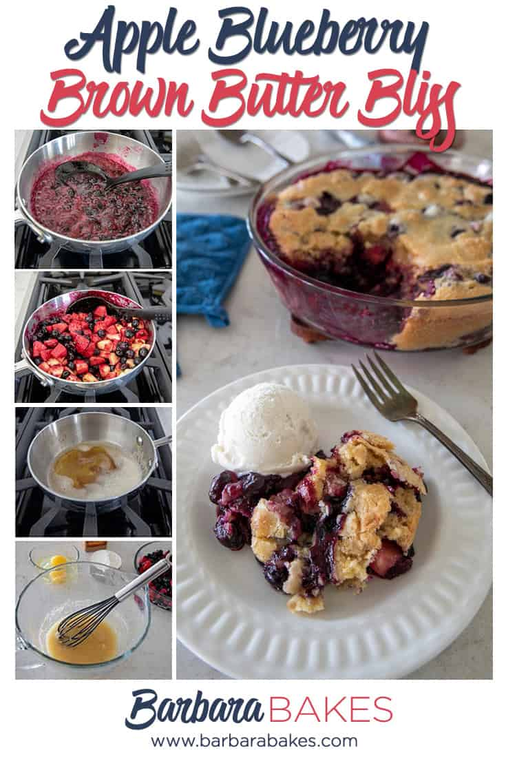A collage of Apple Blueberry Brown Butter Bliss via @barbarabakes