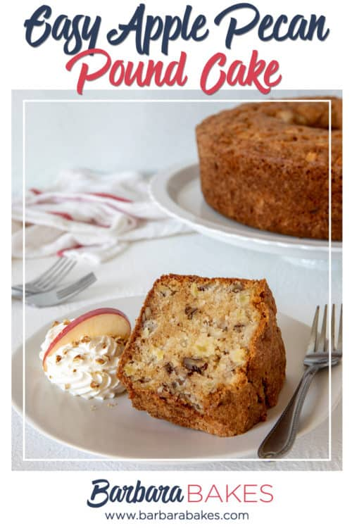 Apple Pecan Pound Cake from BarbaraBakes.com