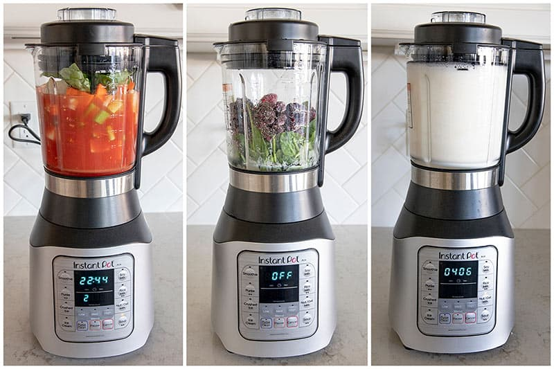 collage of Instant-Pot-Ace-Blender-Multi-Cooker
