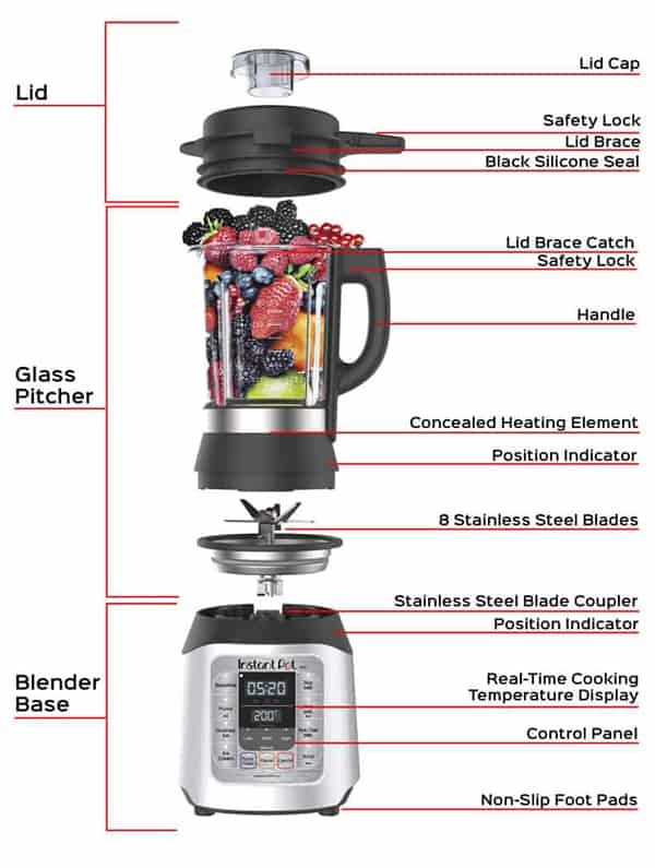 Instant Pot Ace Multi-Use Cooking & Beverage Blender Features