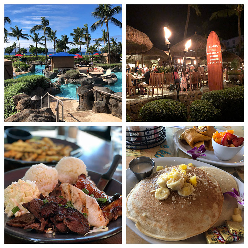 photo collage of Honua Kai Resort on the Kaanapali North Beach