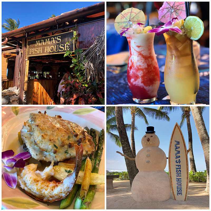 collage of photos from Mama\'s Fish House